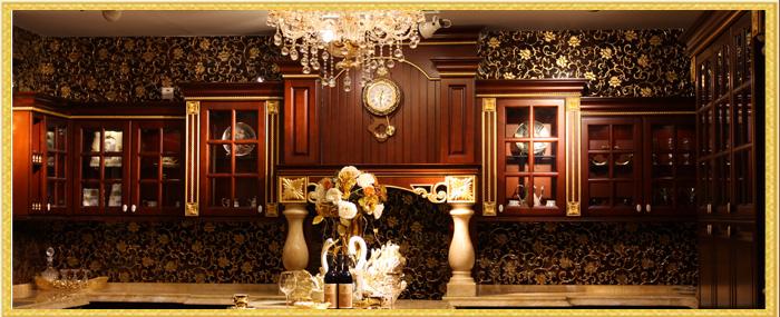 大户豪宅厨房文化、全屋实木橱柜,奢华尊贵