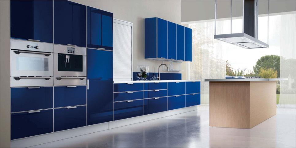 曼陀罗-铝框玻璃烤漆--蓝主款